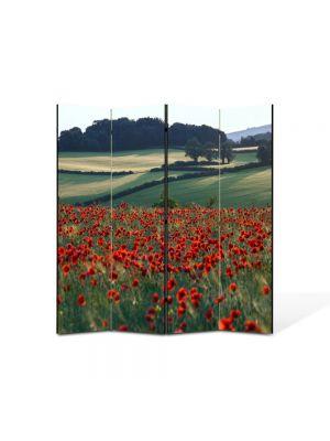 Paravan de Camera ArtDeco din 4 Panouri Peisaj Maci la orizont 105 x 150 cm