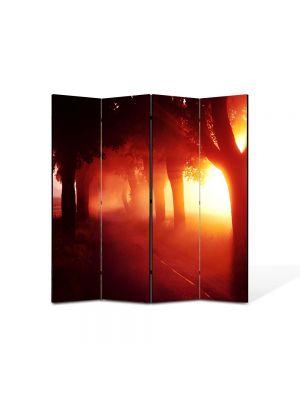 Paravan de Camera ArtDeco din 4 Panouri Peisaj Lumina fantastica 105 x 150 cm