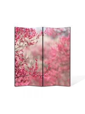 Paravan de Camera ArtDeco din 4 Panouri Peisaj Pomi fructiferi 105 x 150 cm