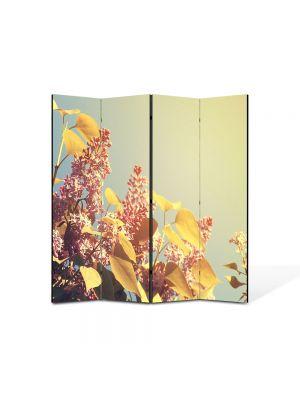 Paravan de Camera ArtDeco din 4 Panouri Peisaj Lilieci 105 x 150 cm