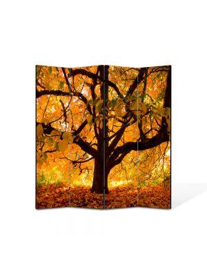 Paravan de Camera ArtDeco din 4 Panouri Peisaj Copac vesnic 105 x 150 cm
