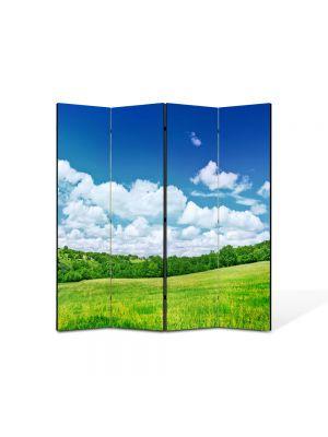 Paravan de Camera ArtDeco din 4 Panouri Peisaj utopic 105 x 150 cm