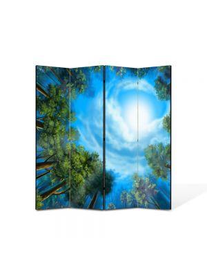 Paravan de Camera ArtDeco din 4 Panouri Peisaj Triunghiul bermudelor 105 x 150 cm