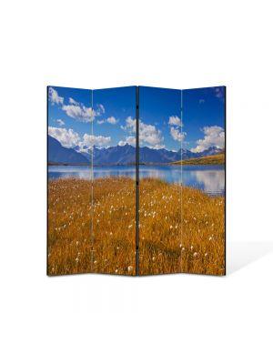 Paravan de Camera ArtDeco din 4 Panouri Peisaj Mal 105 x 150 cm