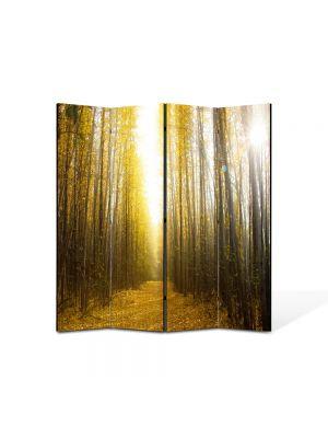 Paravan de Camera ArtDeco din 4 Panouri Peisaj Lumina puternica 105 x 150 cm