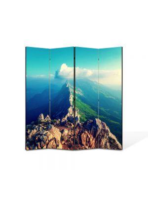 Paravan de Camera ArtDeco din 4 Panouri Peisaj Pe creasta muntelui 105 x 150 cm