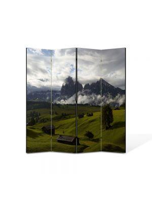 Paravan de Camera ArtDeco din 4 Panouri Peisaj Se pregateste sa ploua 105 x 150 cm
