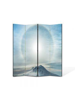 Paravan de Camera ArtDeco din 4 Panouri Peisaj Lumina 105 x 150 cm