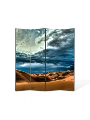 Paravan de Camera ArtDeco din 4 Panouri Peisaj Cer peste desert 105 x 150 cm