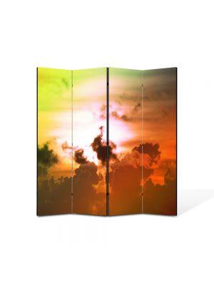 Paravan de Camera ArtDeco din 4 Panouri Peisajlori fantastice pe cer 105 x 150 cm