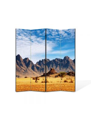 Paravan de Camera ArtDeco din 4 Panouri Peisaj In desert 105 x 150 cm