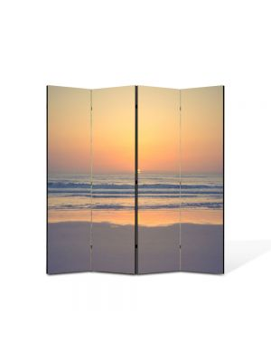 Paravan de Camera ArtDeco din 4 Panouri Peisaj Relaxare 105 x 150 cm