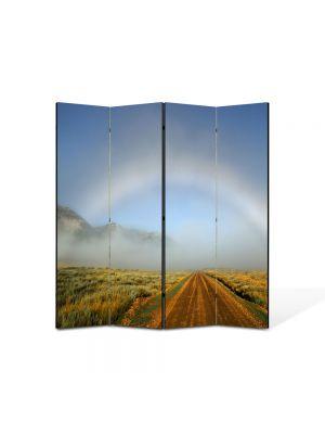 Paravan de Camera ArtDeco din 4 Panouri Peisajrcubeu atipic 105 x 150 cm