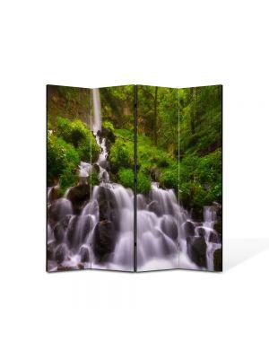 Paravan de Camera ArtDeco din 4 Panouri Peisaj Firicele de apa 105 x 150 cm