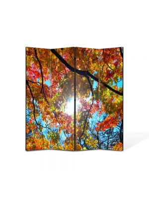 Paravan de Camera ArtDeco din 4 Panouri Peisaj Sub cer 105 x 150 cm