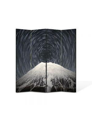 Paravan de Camera ArtDeco din 4 Panouri Peisaj Spirala 105 x 150 cm