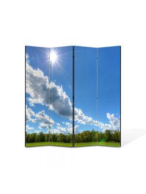 Paravan de Camera ArtDeco din 4 Panouri Peisaj In amiaza mare 105 x 150 cm