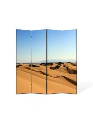 Paravan de Camera ArtDeco din 4 Panouri Peisaj Dune in desert 105 x 150 cm