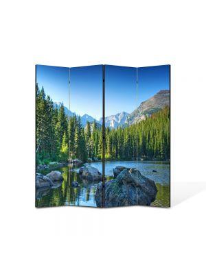 Paravan de Camera ArtDeco din 4 Panouri Peisaj Norvegia 105 x 150 cm