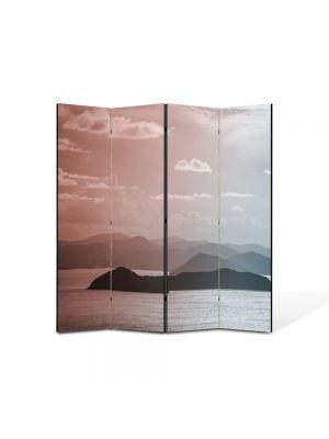 Paravan de Camera ArtDeco din 4 Panouri Peisaj Insulite 105 x 150 cm