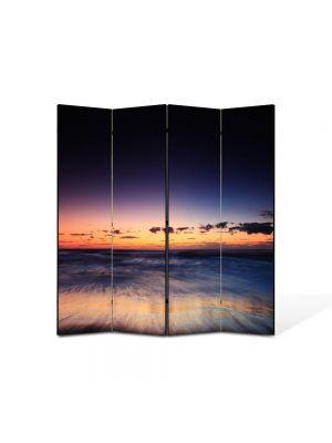 Paravan de Camera ArtDeco din 4 Panouri Peisaj Asfintit 105 x 150 cm