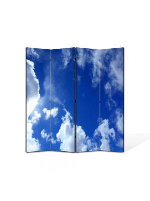 Paravan de Camera ArtDeco din 4 Panouri Peisaj Cer 105 x 150 cm