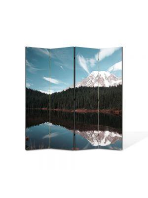 Paravan de Camera ArtDeco din 4 Panouri Peisaj Creasta de munte 105 x 150 cm