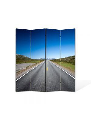 Paravan de Camera ArtDeco din 4 Panouri Peisaj Linie dreapta 105 x 150 cm