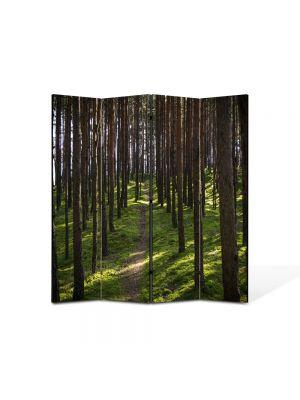 Paravan de Camera ArtDeco din 4 Panouri Peisaj Poteca 105 x 150 cm