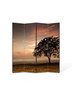 Paravan de Camera ArtDeco din 4 Panouri Peisaj Coroana de copac 105 x 150 cm