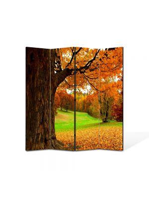 Paravan de Camera ArtDeco din 4 Panouri Peisaj Covor aramiu 105 x 150 cm