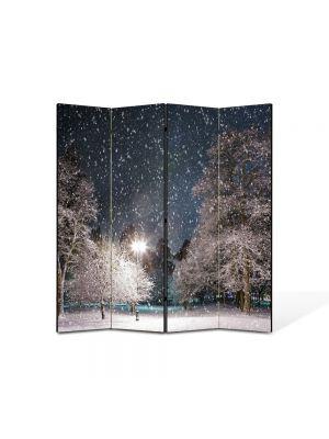 Paravan de Camera ArtDeco din 4 Panouri Peisaj Cer plin de stele 105 x 150 cm