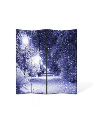 Paravan de Camera ArtDeco din 4 Panouri Peisaj Ninge 105 x 150 cm