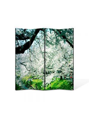 Paravan de Camera ArtDeco din 4 Panouri Peisaj de primavara 105 x 150 cm