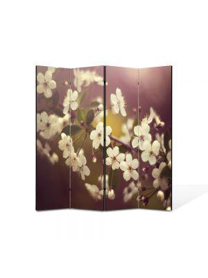 Paravan de Camera ArtDeco din 4 Panouri Peisaj Macro 105 x 150 cm