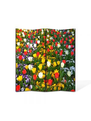Paravan de Camera ArtDeco din 4 Panouri Peisaj O multitudine delori 105 x 150 cm