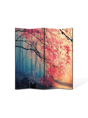 Paravan de Camera ArtDeco din 4 Panouri Peisaj Rece, cald 105 x 150 cm
