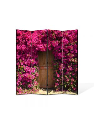 Paravan de Camera ArtDeco din 4 Panouri Peisaj Poarta de flori 105 x 150 cm