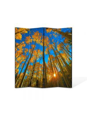 Paravan de Camera ArtDeco din 4 Panouri Peisaj In sus pe cer 105 x 150 cm