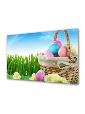 Tablou Canvas Sarbatori Paste Cos cu oua de toate felurile