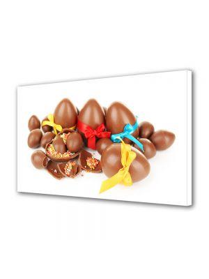 Tablou Canvas Sarbatori Paste Multitudine de oua de ciocolata