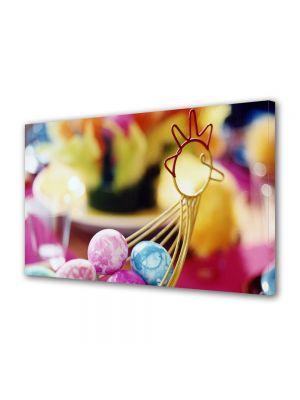 Tablou Canvas Sarbatori Paste Cosulet-figurina cu oua