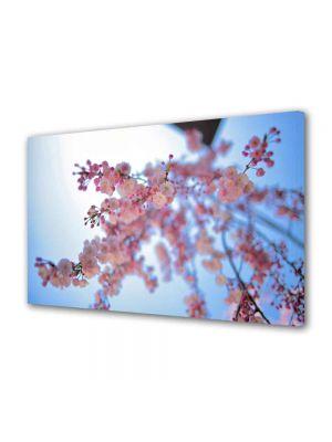 Tablou Canvas Luminos in intuneric VarioView LED Peisaj Crenguta roz