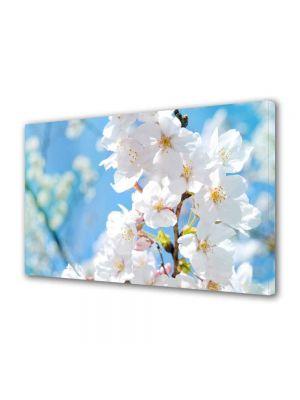 Tablou Canvas Peisaj Floare cu nuante Alb-albaste