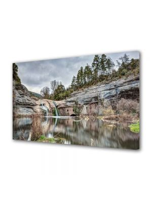 Tablou Canvas Peisaj Cascada in lac