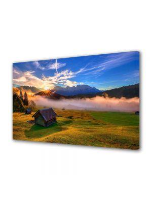 Tablou Canvas Peisaj Cabana de lemn