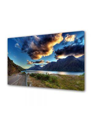 Tablou Canvas Luminos in intuneric VarioView LED Peisaj Drum langa lac