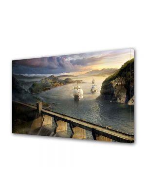 Tablou Canvas Peisaj Corabii