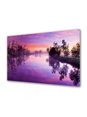 Tablou Canvas Peisaj Lacul violet