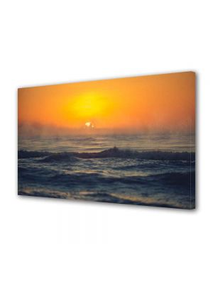 Tablou Canvas Luminos in intuneric VarioView LED Peisaj Mare agitata la apus